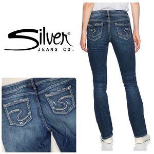 Silver Elyse Straight Leg Jeans👖